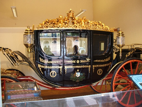 Australian carriage at the Royal Mews, Buckingham Palace, London, England