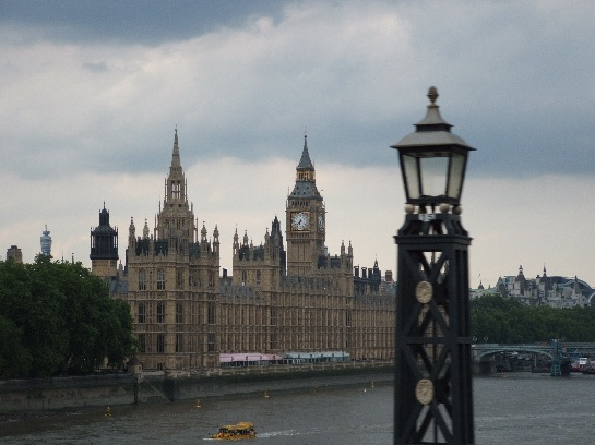 The British Houses of Parliament and Big Ben, London, England