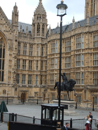Front of the British Houses of Parliament, London, England