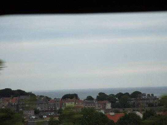 Entry into Waverley, Edinburgh. View of the North Sea. Edinburgh, Scotland