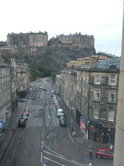 Edinburgh Castle from the hotel room, Edinburgh, Scotland