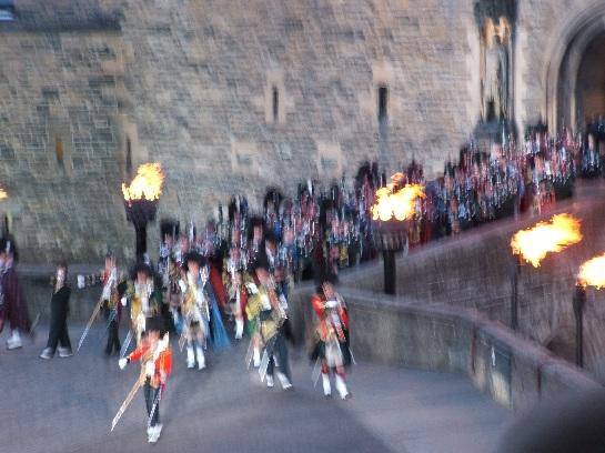 The Pipes and Drums of the 2006 Edinburgh Military Tattoo at Edinburgh Castle, Edinburgh Scotland