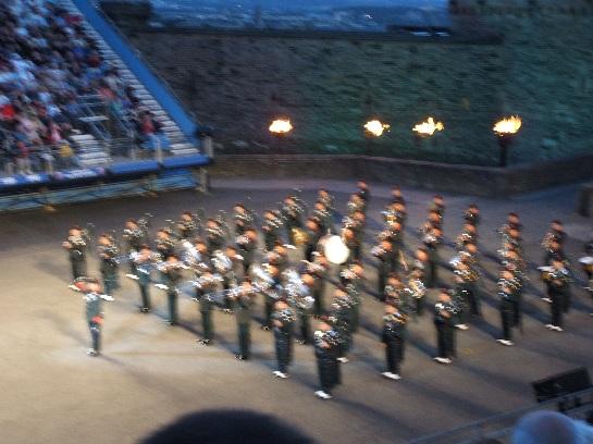 Ghurkha Pipes and Drums of the 2006 Edinburgh Military Tattoo at Edinburgh Castle, Edinburgh Scotland