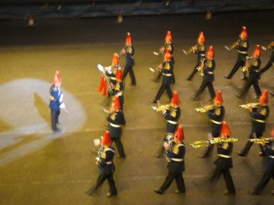 The Chilean Band of the 2006 Edinburgh Military Tattoo at Edinburgh Castle, Edinburgh Scotland
