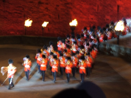 The Pipes and Drums of the 2006 Edinburgh Military Tattoo at Edinburgh Castle, Edinburgh Scotland
