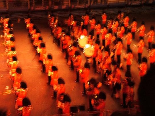 Massed Pipes and Drums of the 2006 Edinburgh Military Tattoo at Edinburgh Castle, Edinburgh Scotland
