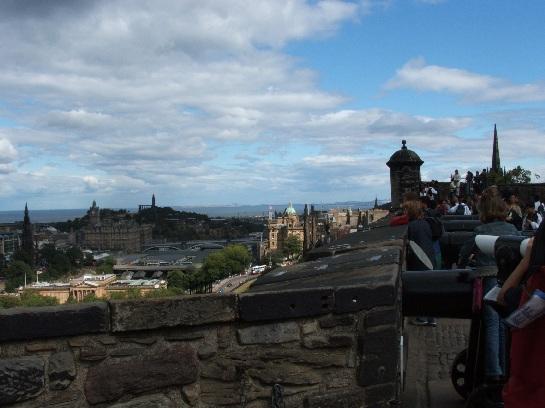 Edinburgh city as seen from Edinburgh Castle, Edinburgh, Scotland