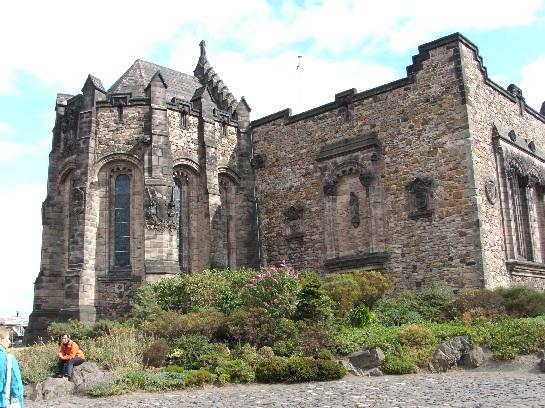 The main Chapel of Edinburgh Castle. Houses the Battle Honours of all the Scottish Regiments. Edinburgh, Scotland