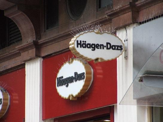 Haagen-Dazs Sign (Danish Ice Cream), London, England