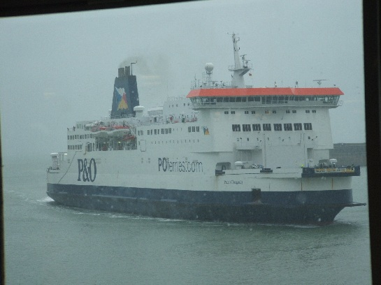 P&O Ferry 'Pride of Burgundy', coming into the Port of Dover after a channel crossing, Port of Dover, England