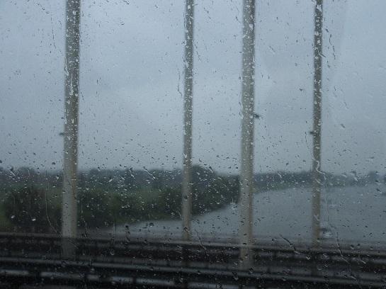 Rhine river crossing from Belgium into Nederlands