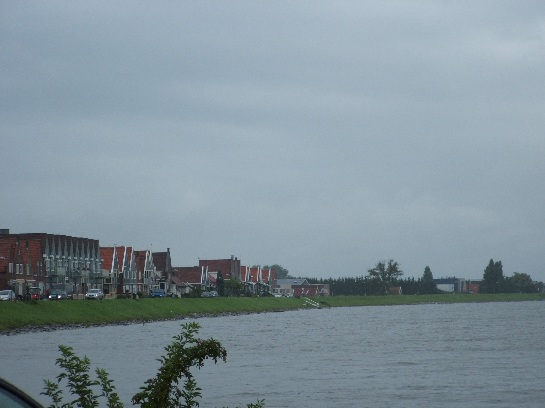 Fishing Village of Volendam on a lake in the Nederlands