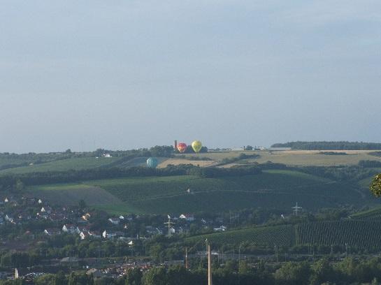 Hot Air Balloons taking off at Wurtburg, Germany