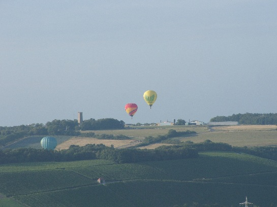 Hot Air Balloons taking off at Wurtburg, Germany