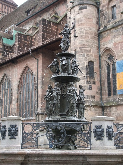 Fountain in Nuremberg, Germany