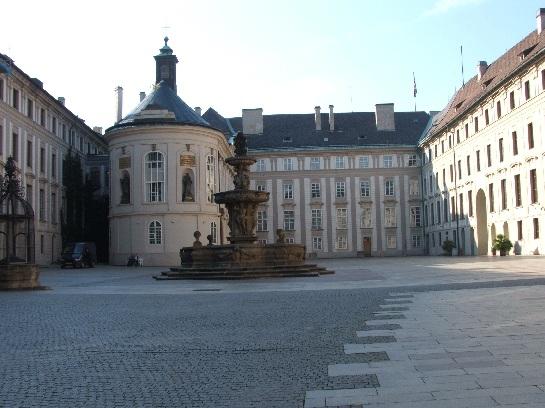 Central courtyard of Prague Castle, Prague, Czech Republic