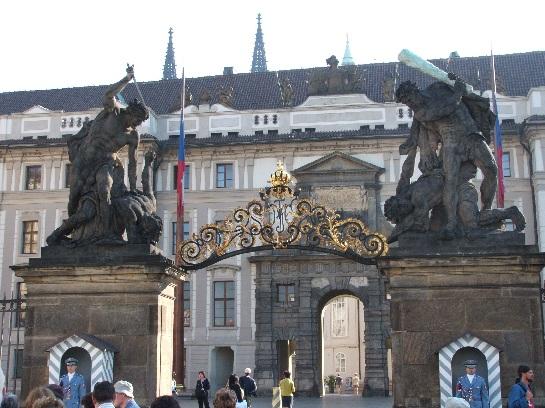 Guarded main entrance of Prague Castle, Prague, Czech Republic