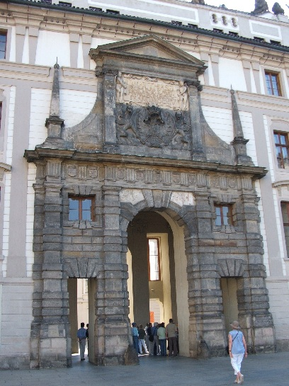 Inner entrance of Prague Castle, Prague, Czech Republic