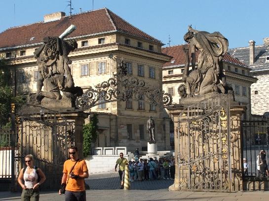 Main entrance of Prague Castle, Prague, Czech Republic