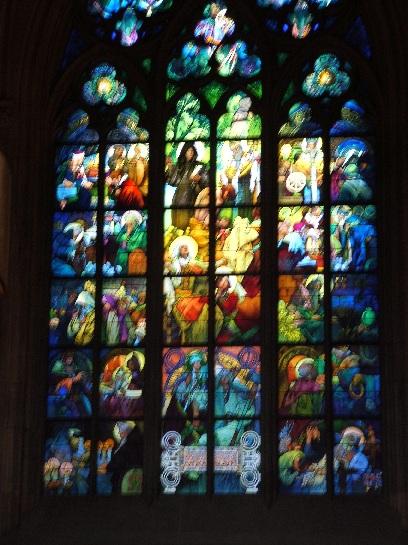 Inside St Vitus Cathedral, Prague Castle, Prague, Czech Republic