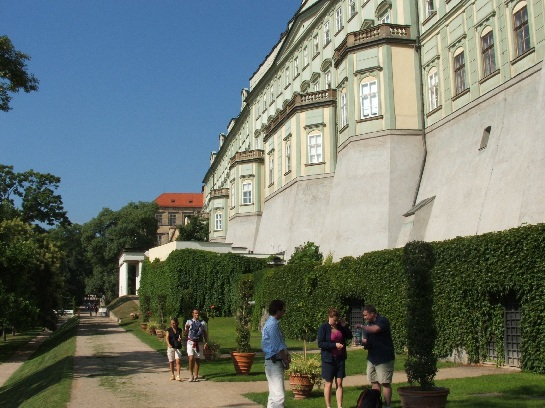 View of gardens around Prague Castle, Prague, Czech Republic