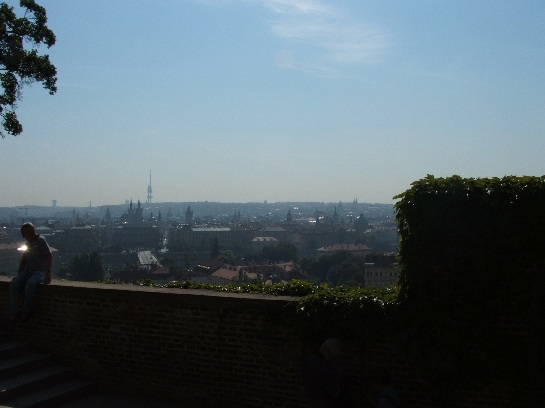 View of Prague from Prague Castle with Communist TV tower in background, Prague, Czech Republic