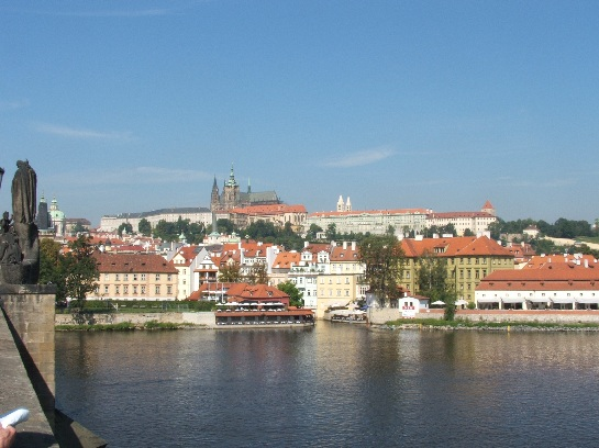 Prague Castle from Charles Bridge, Prague, Czech Republic