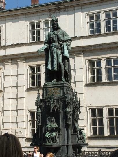 Statue of Rafolo Quafto on Charles Bridge, Prague, Czech Republic