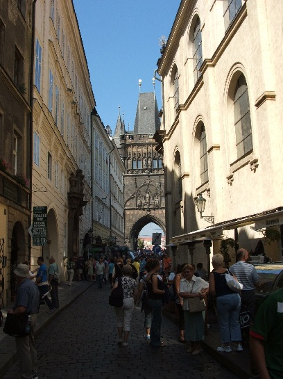 Street in Prague, Czech Republic