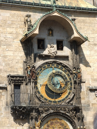 Astronomical Clock in the Old Town Square at Noon, Prague, Czech Republic