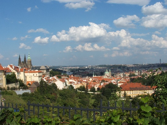 View of city of Prague, Czech Republic