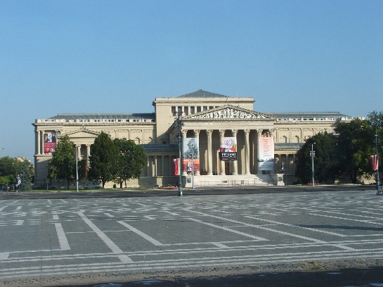 Heroes' Square and Art Gallery, Budapest, Hungary
