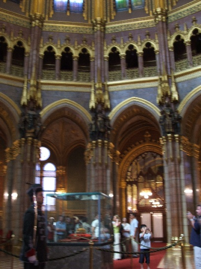 Crown Jewels of Hungary, Inside the Houses of Parliament, Budapest, Hungary