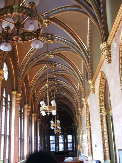 Inside the Houses of Parliament, Budapest, Hungary