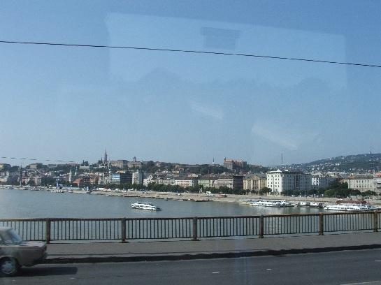 Crossing the Danube leaving Budapest, Hungary