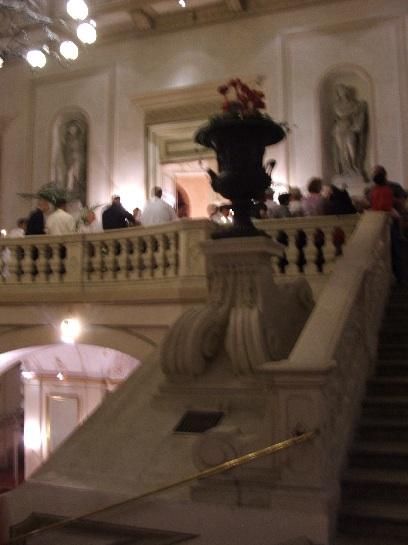 Inside the Austrian Opera House for a recital, Vienna, Austria