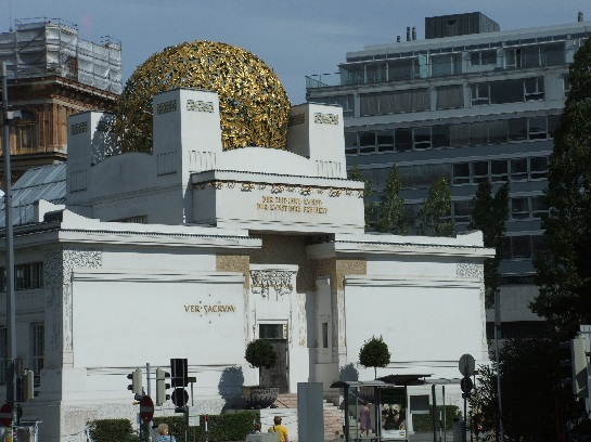 The Vienna Secession is one of the keyworks of Viennese Art Nouveaux architecture. Above the entrance you can read the motto of the secessionist 'Der Zeit ihre Kunst. Der Kunst ihre Freiheit.' (To the Age its Art. To Art its Freedom). It is home to Klimt's Beethoven Frieze. Vienna, Austria