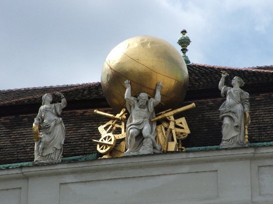 Atlas holding the world on his shoulders, Vienna, Austria