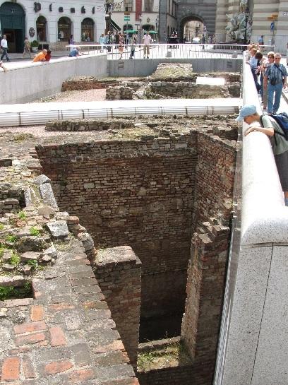 Roman Ruins in Vienna, Austria