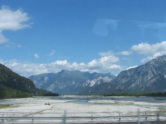 Italian Countryside looking towards the Austrian Alps, Italy