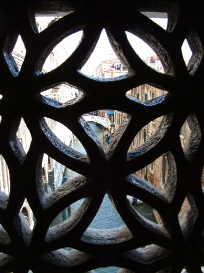Inside the Bridge of Sighs, Venice, Italy