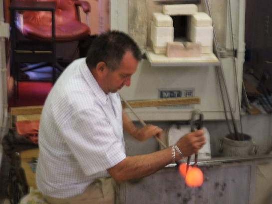 Glass Blowing Demonstration, Venice, Italy