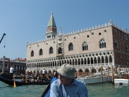 Gondola ride and Doge's Palace, Venice, Italy