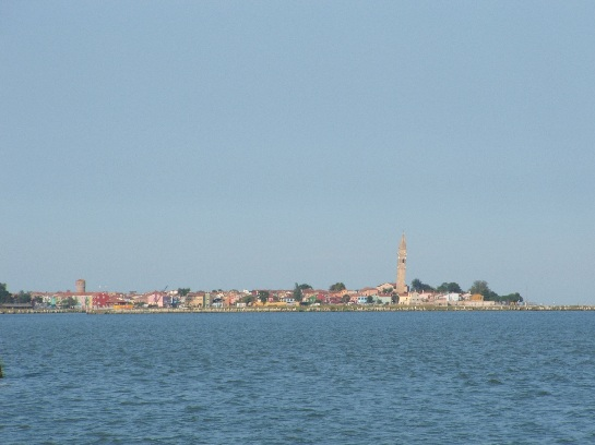 Island of Bogonna in the waterways of Venice, Italy