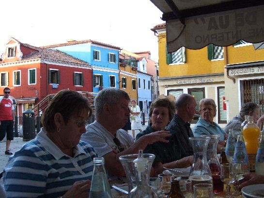 Dinner on the Island of Bogonna in the waterways of Venice, Italy