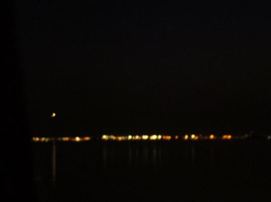 Oil refinery at night, Venice, Italy