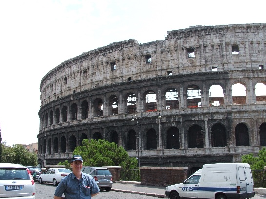 Ross at the Colosseum, Rome, Italy