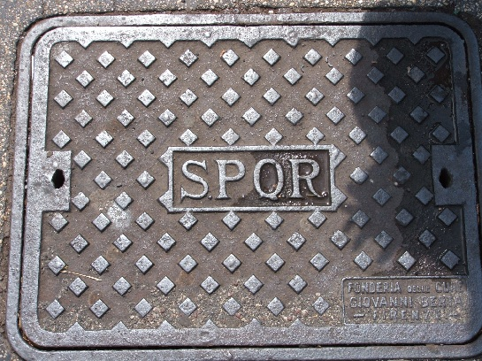 SPQR, Manhole Cover, Rome, Italy