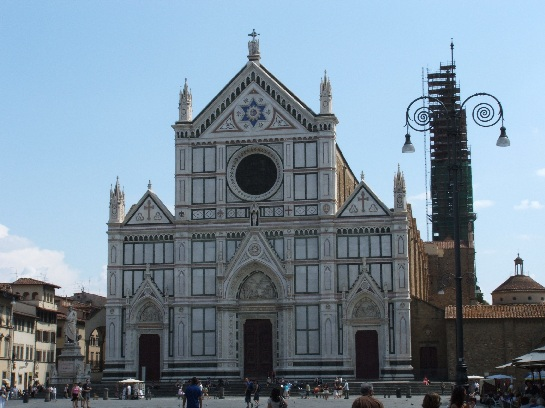 The Church housing the Tombs of Michelangelo, Galileo, and Machiavelli, Florence, Italy