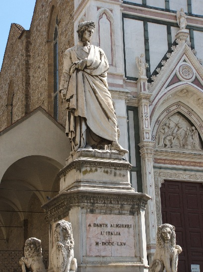 Statue of Dante, Florence, Italy